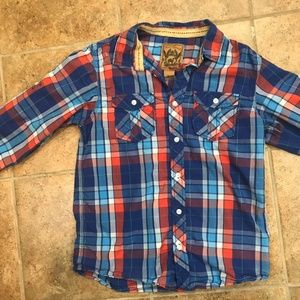 Red Camel Plaid Button Down (bundle & save)